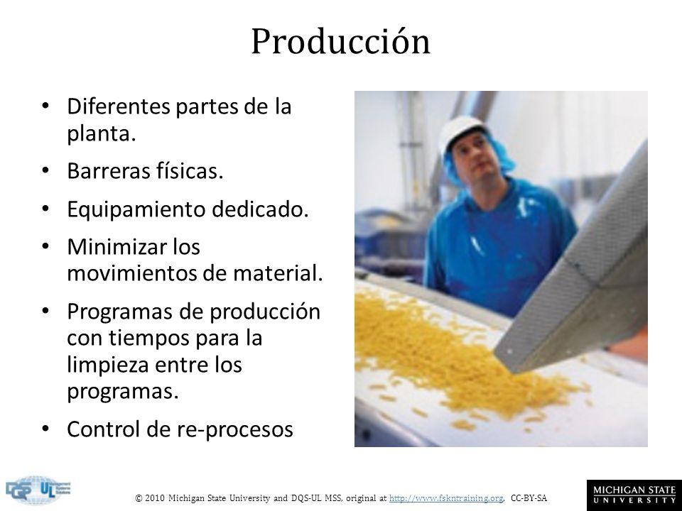 Producción Diferentes partes de la planta. Barreras físicas.