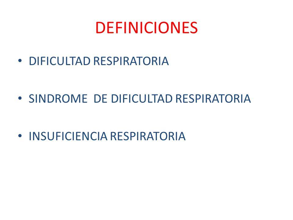 DEFINICIONES DIFICULTAD RESPIRATORIA