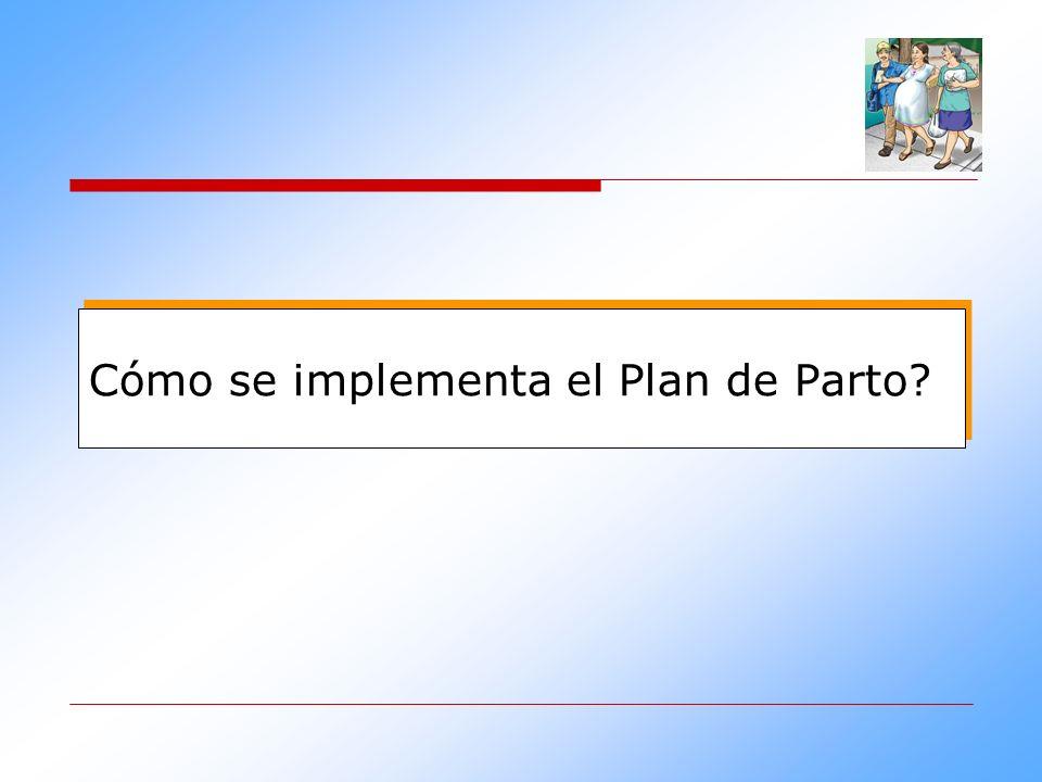 Cómo se implementa el Plan de Parto