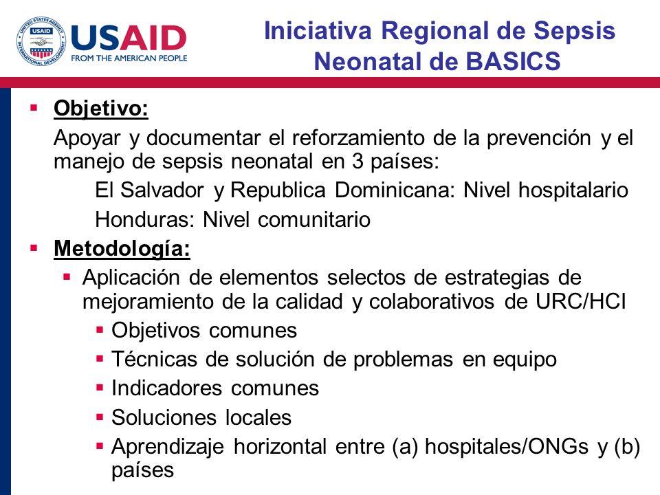 Iniciativa Regional de Sepsis Neonatal de BASICS