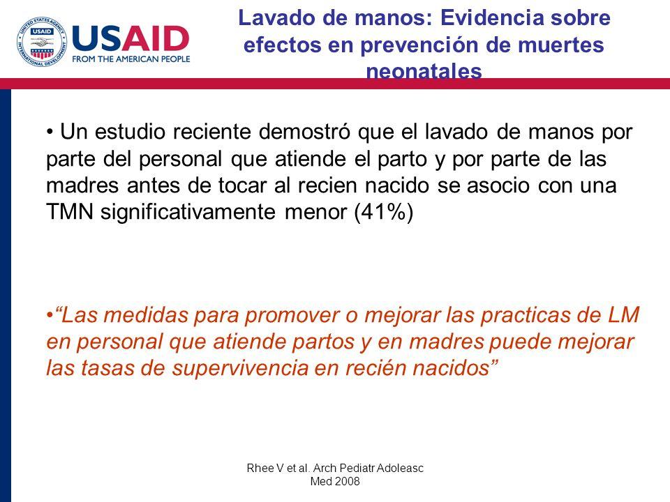 Rhee V et al. Arch Pediatr Adoleasc Med 2008