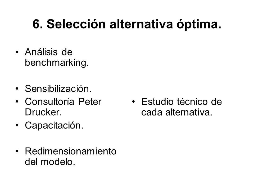 6. Selección alternativa óptima.