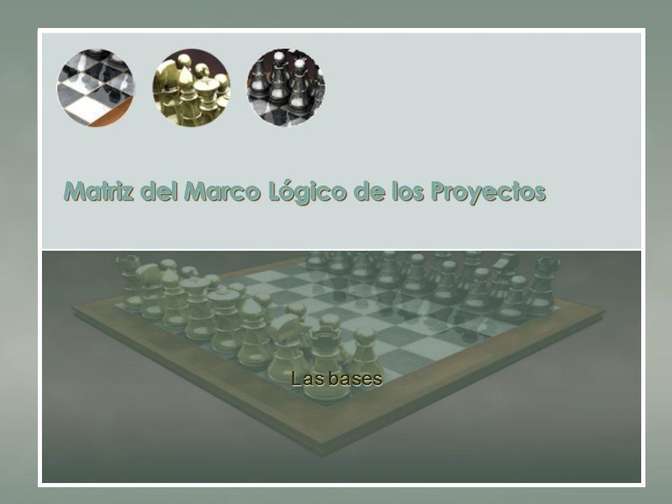 Matriz del Marco Lógico de los Proyectos