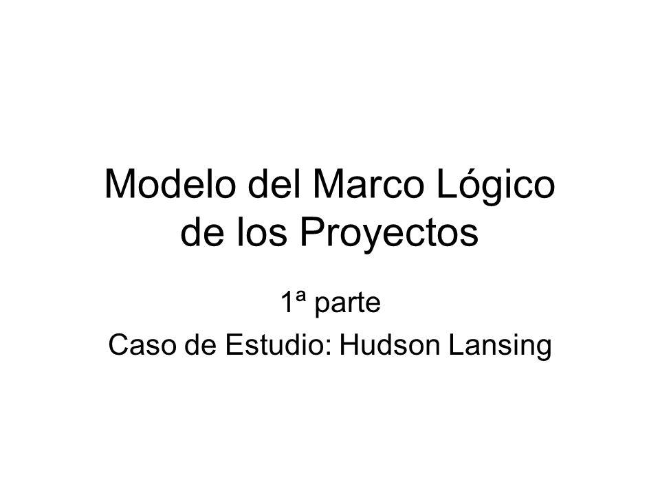 Modelo del Marco Lógico de los Proyectos