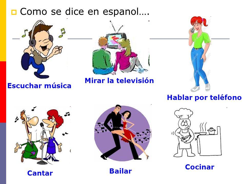 Como se dice en espanol….