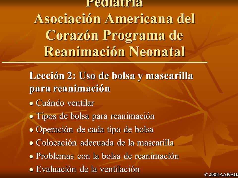 Academia Americana de Pediatría Asociación Americana del Corazón Programa de Reanimación Neonatal