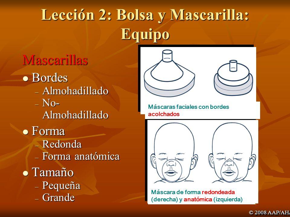 Lección 2: Bolsa y Mascarilla: Equipo
