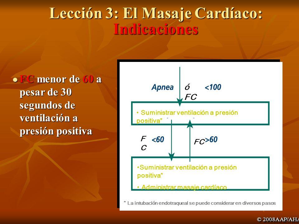 Lección 3: El Masaje Cardíaco: Indicaciones