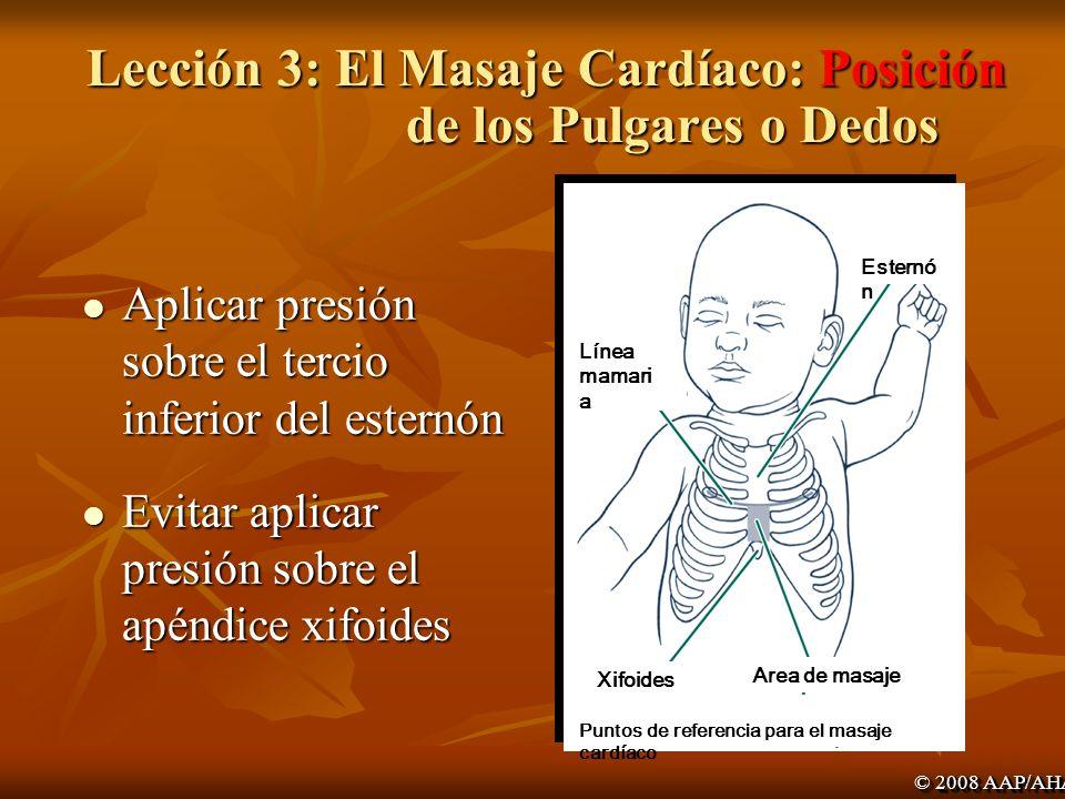 Lección 3: El Masaje Cardíaco: Posición de los Pulgares o Dedos