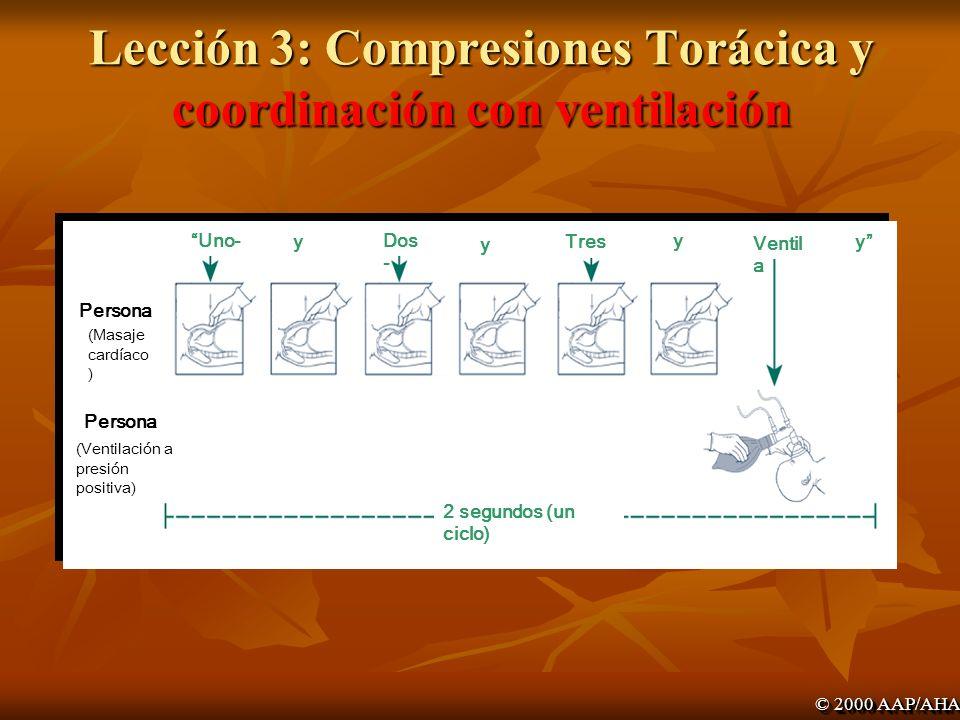 Lección 3: Compresiones Torácica y coordinación con ventilación
