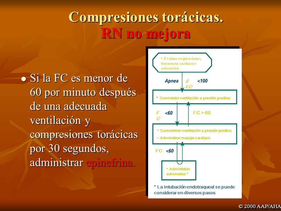 Compresiones torácicas. RN no mejora