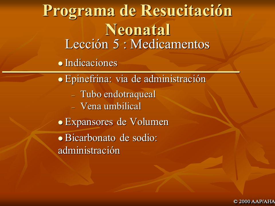 Academia Americana de Pediatría Programa de Resucitación Neonatal
