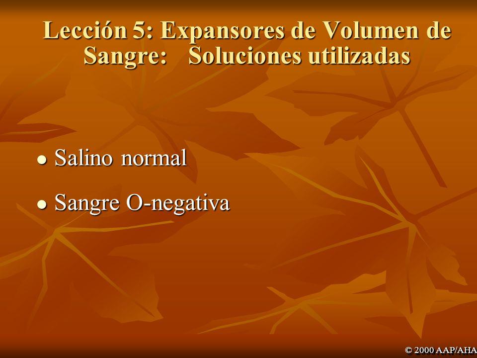 Lección 5: Expansores de Volumen de Sangre: Soluciones utilizadas