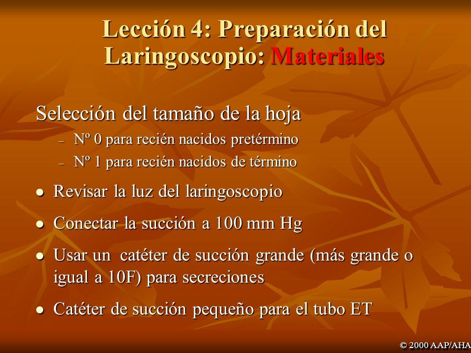 Lección 4: Preparación del Laringoscopio: Materiales