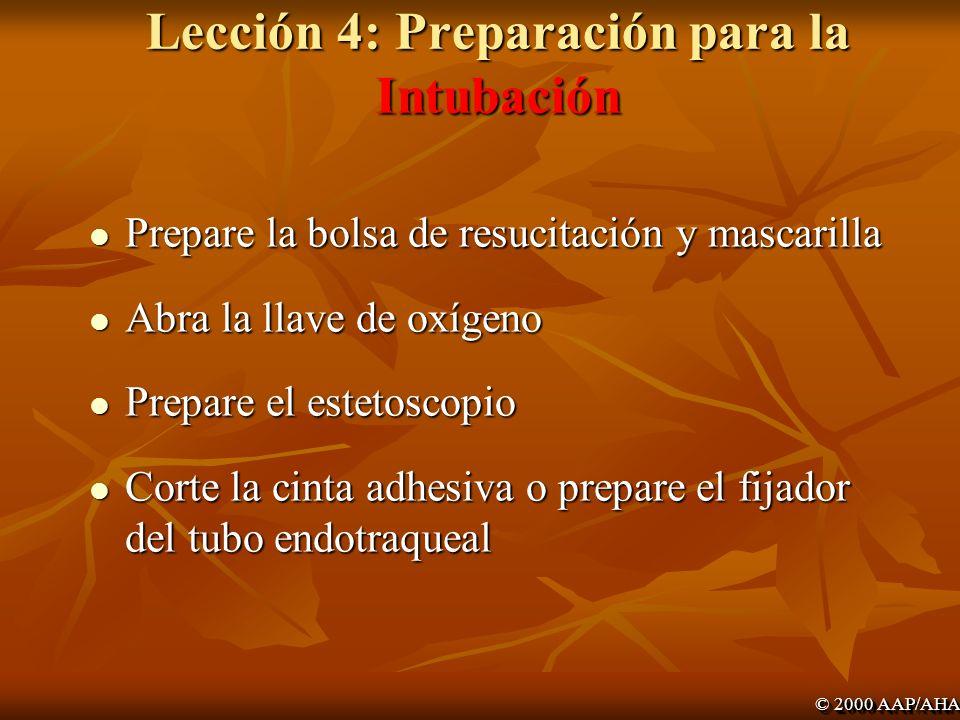 Lección 4: Preparación para la Intubación