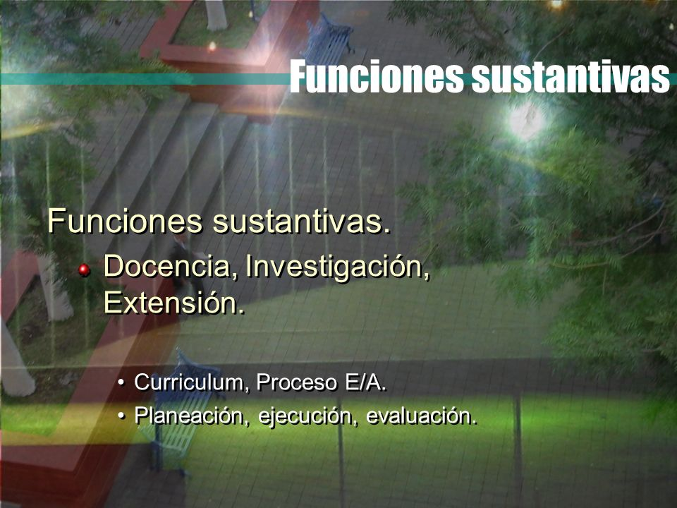 Funciones sustantivas