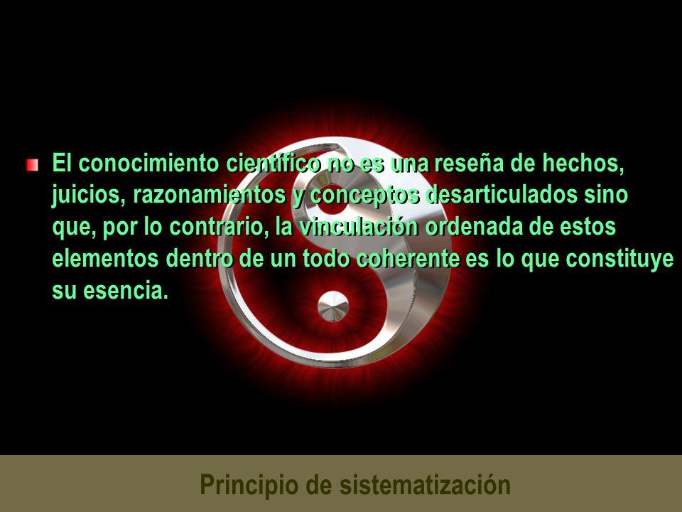 Principio de sistematización