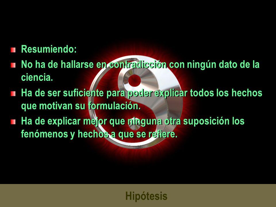 Hipótesis Resumiendo: