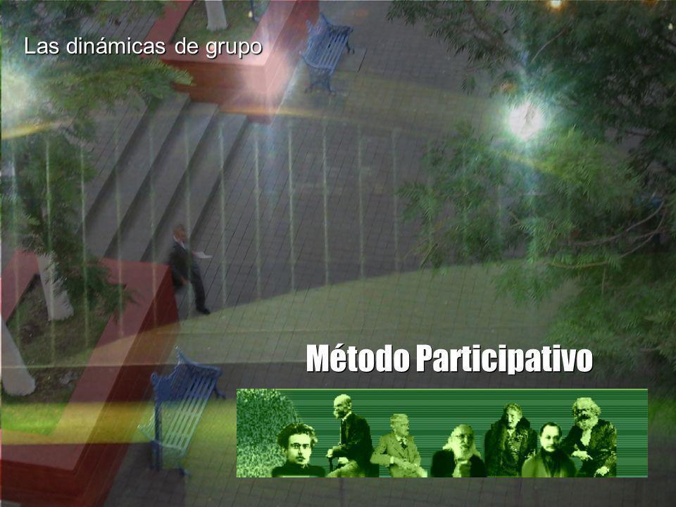 Las dinámicas de grupo Método Participativo