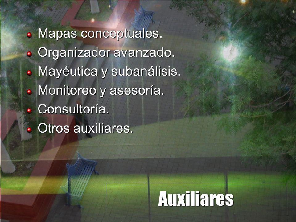 Auxiliares Mapas conceptuales. Organizador avanzado.