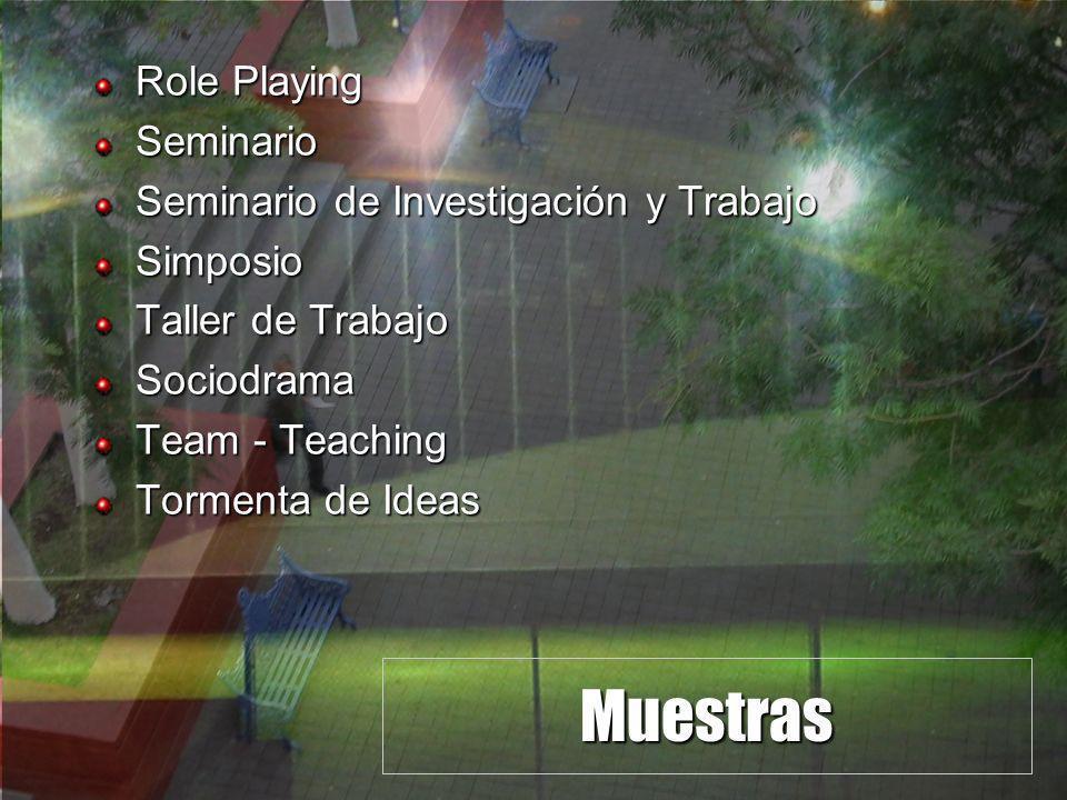 Muestras Role Playing Seminario Seminario de Investigación y Trabajo