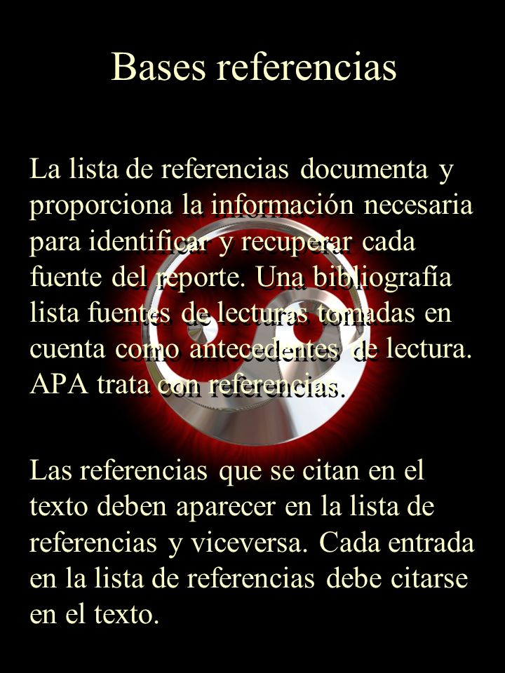Bases referencias