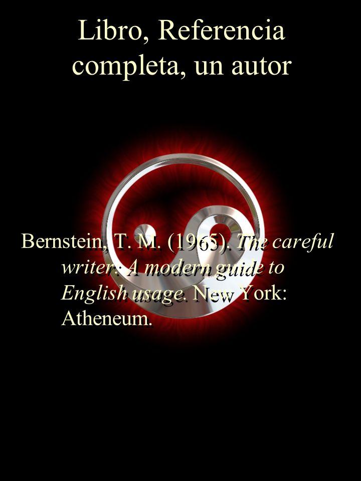Libro, Referencia completa, un autor