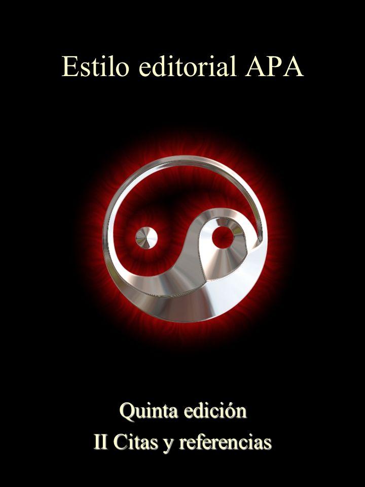 Quinta edición II Citas y referencias