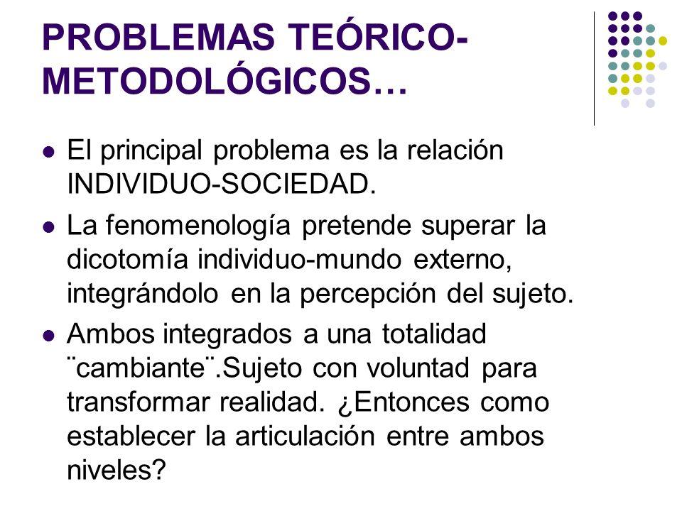 PROBLEMAS TEÓRICO-METODOLÓGICOS…