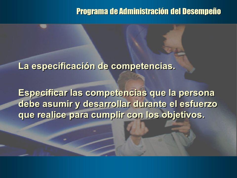 Programa de Administración del Desempeño