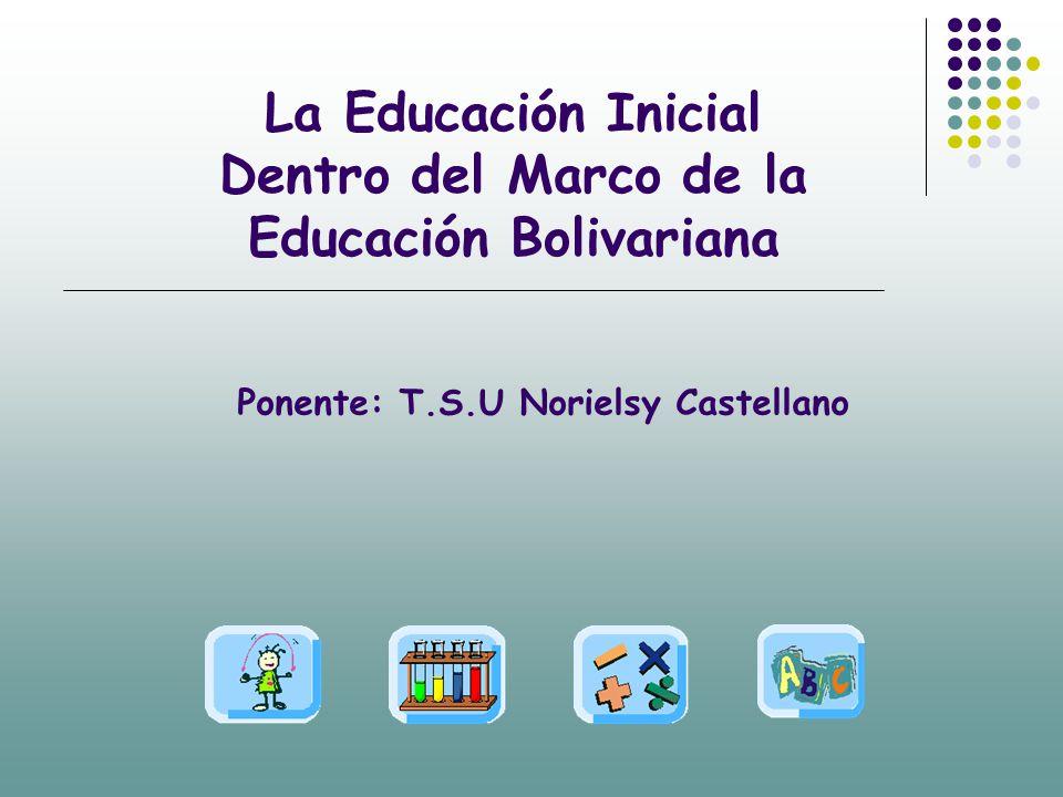 La Educación Inicial Dentro del Marco de la Educación Bolivariana ...