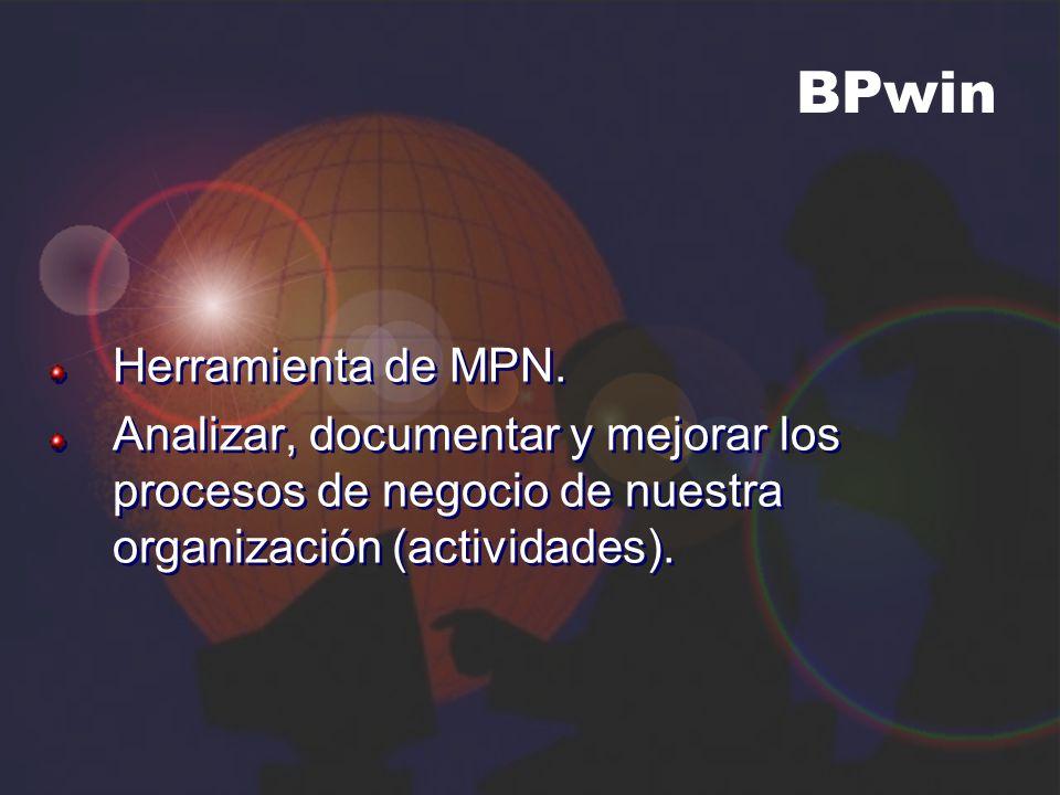 BPwin Herramienta de MPN.