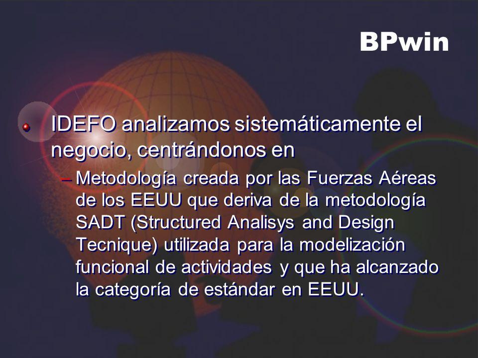 BPwin IDEFO analizamos sistemáticamente el negocio, centrándonos en