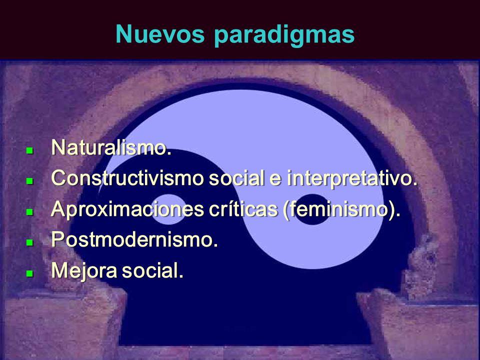 Nuevos paradigmas Naturalismo.