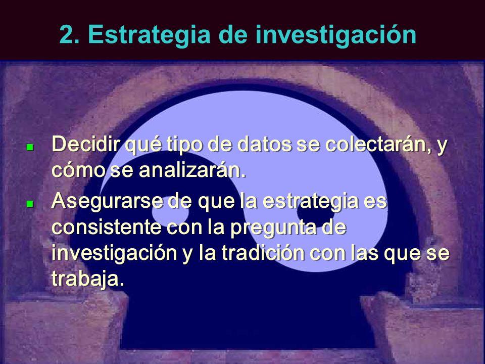 2. Estrategia de investigación