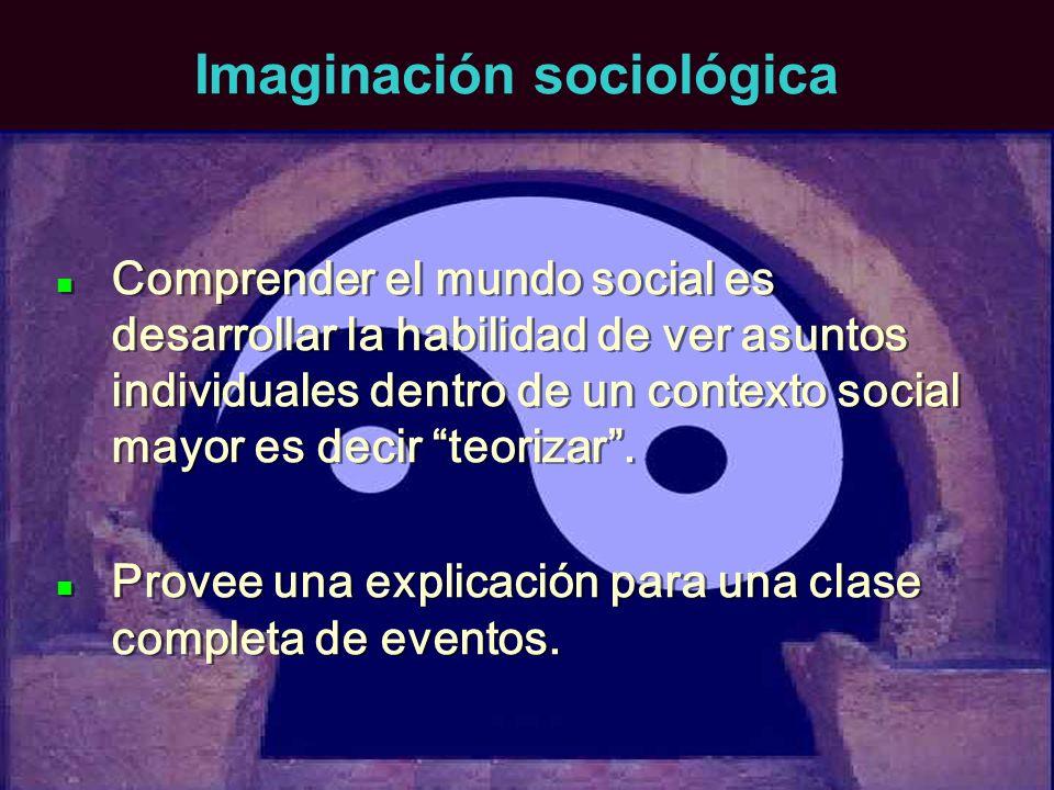 Imaginación sociológica