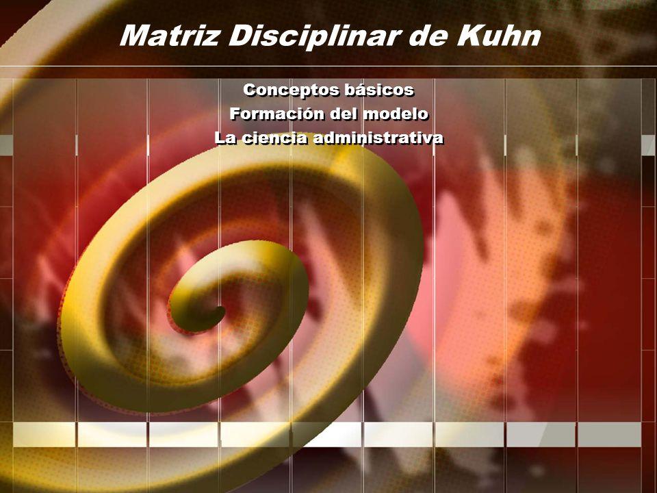Matriz Disciplinar de Kuhn