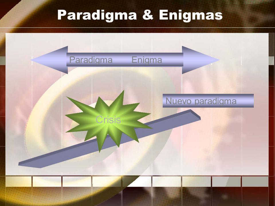 Paradigma & Enigmas Paradigma Enigma Crisis Nuevo paradigma