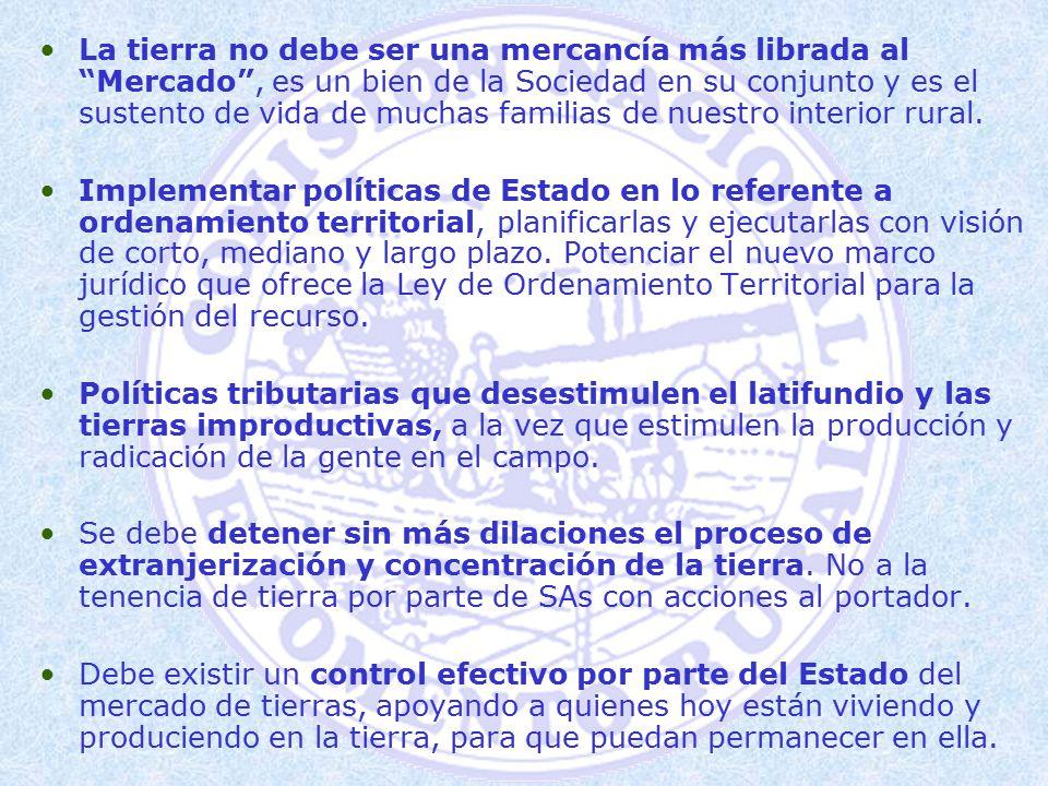 POR POLÍTICAS DE ACCESO A TIERRA Y DESARROLLO RURAL SOSTENIBLE ...