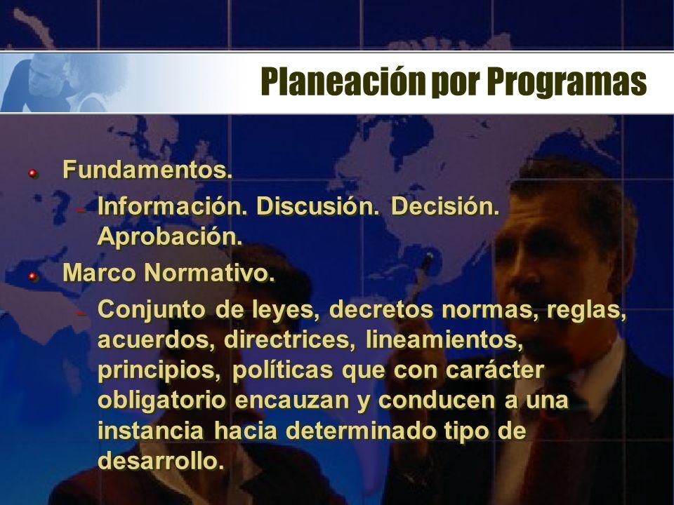 Planeación por Programas
