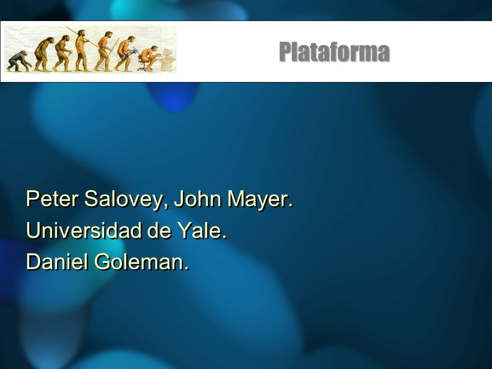 Plataforma Peter Salovey, John Mayer. Universidad de Yale.