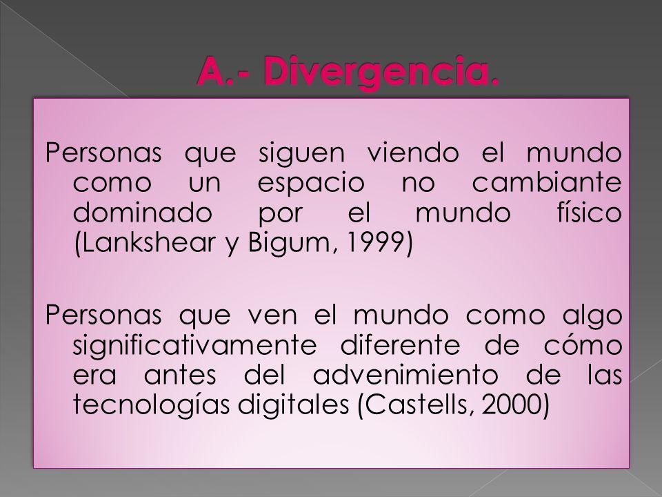 A.- Divergencia.