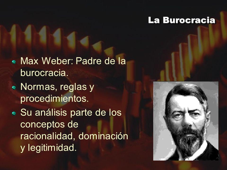 Max Weber: Padre de la burocracia. Normas, reglas y procedimientos.