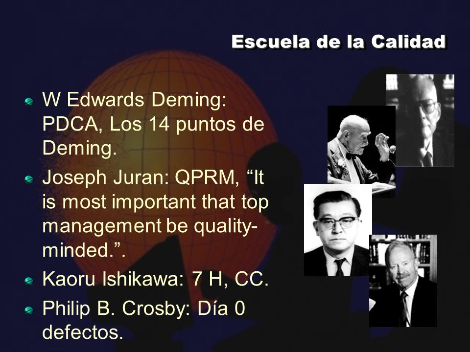 W Edwards Deming: PDCA, Los 14 puntos de Deming.