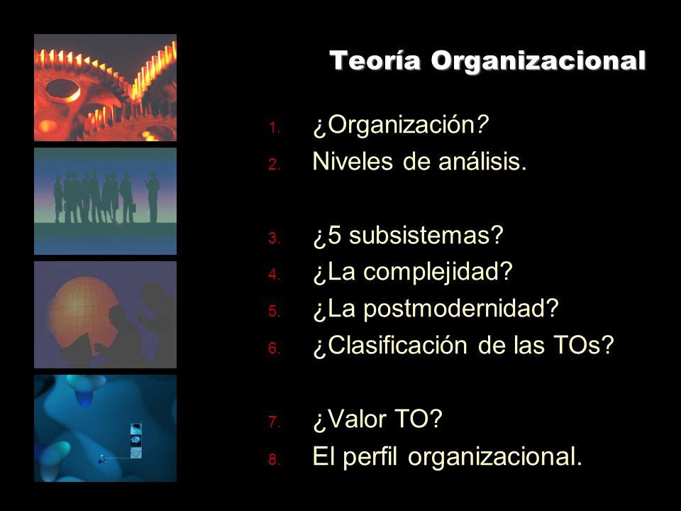 Teoría Organizacional