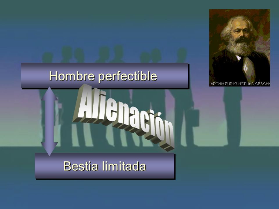 Hombre perfectible Alienación Bestia limitada