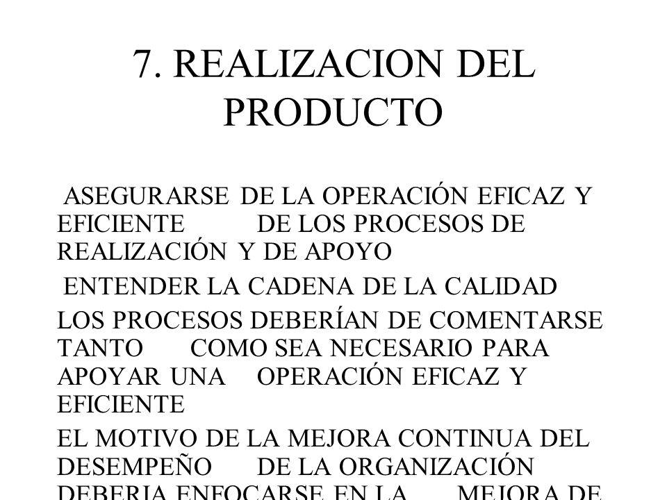 7. REALIZACION DEL PRODUCTO