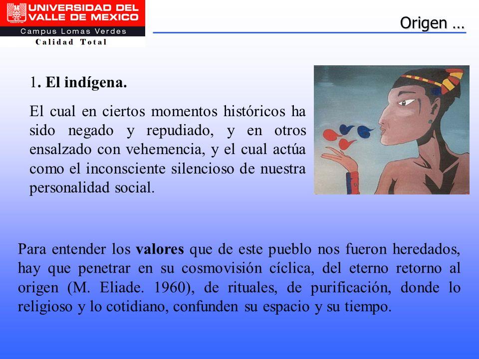 Origen … 1. El indígena.