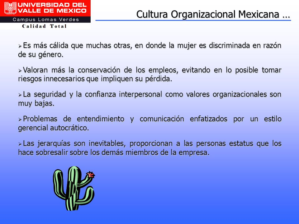 Cultura Organizacional Mexicana …