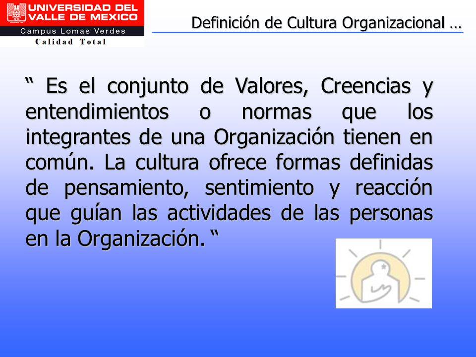 Definición de Cultura Organizacional …